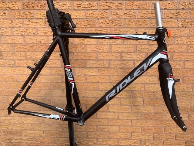 Ridley X-Bow Cyclocross Cantilver Alloy Frame & Carbon Frame Frameset Black Red